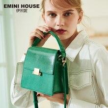 Эмини дом ящерица узор из натуральной кожи Сумки Роскошные женские сумки дизайнерские сумки через плечо для женщин сумка на плечо