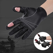 цена на Outdoor Non-slip Flexible Two Fingers Cut Fishing gloves Practical Fishing Finger Protective Gloves Waterproof Sports Gloves