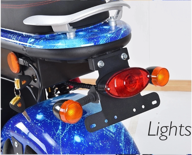 EEC Approved Street Legal Electric Motorcycle 18inch Citycoco 60v60ah 3 Batteries Electric Scooters Europe stock with Mirrors 4