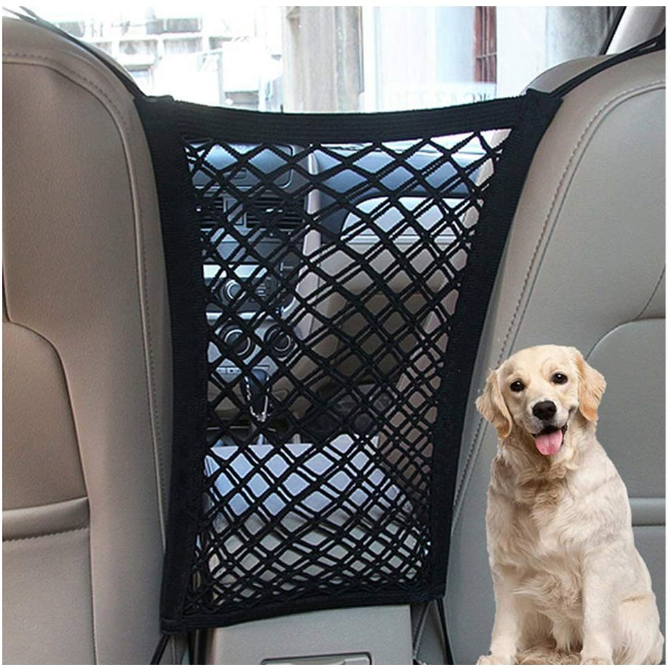 Car Pet Isolation Pet Barrier Backseat Mesh Dog Car Divider Net With Adjusting Rope And Hook Suitable For SUV And Small Car