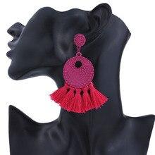 30 par/lote de pendientes de borla bohemios Vintage para mujeres, pendientes de encanto, joyería de moda, pendientes con flecos para boda, declaración nupcial