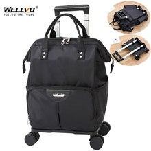 Grand sac à roulettes à roulettes, valise de voyage étanche et pliable XA102C