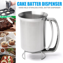 Stainless Steel Donut Cupcake Waffle Batter Funnel Pancake Dispenser Maker Kitchen Supplies MU8669 jiqi octopus balls filler takoyaki stainless steel filling funnel manual waffle batter separator chocolate cream baked hopper