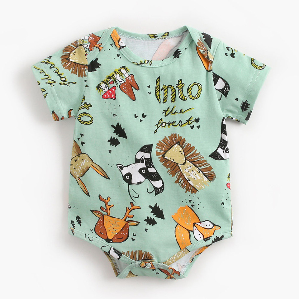 Boy Girl Kids Newborn Infant Cotton Romper Jumpsuit Bodysuit Clothes Outfit WS