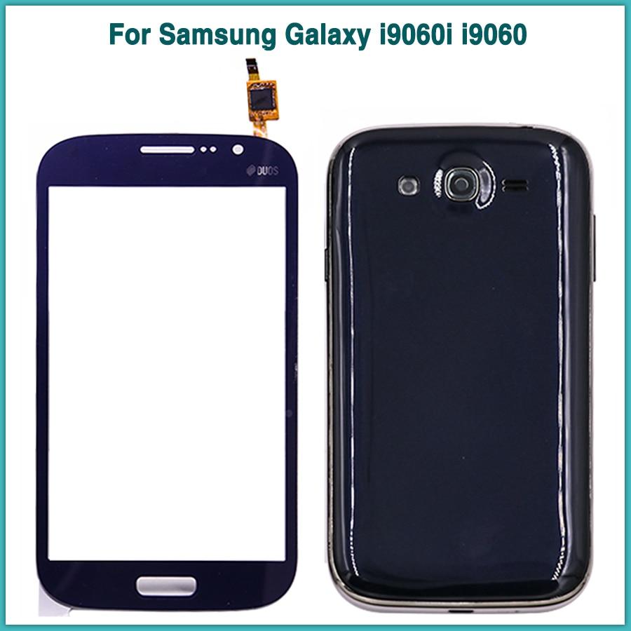 Nova Tampa Da Caixa Completa Para Samsung Galaxy Grand Neo i9060 i9060i GT Tampa Da Bateria + Quadro Do Meio + Tela de Toque