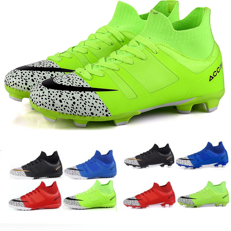 New Men Boys Kids Soccer Shoes Outdoor