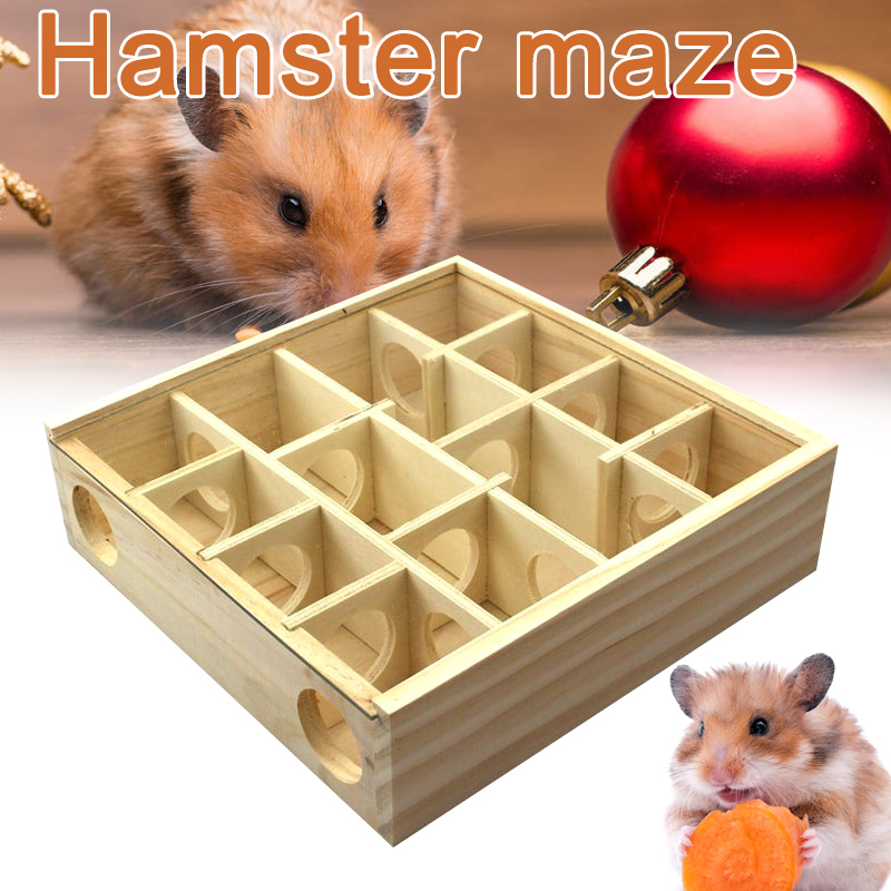 Pet Hamster Wooden Mazes Tunnel Gerbil Rat Mouse Mice Small Animal Play Toys L5 #4