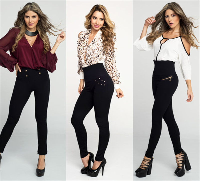 Europe And America Hot Selling Seamless Hollywood Pants Slim Leggings High-waisted Body Shaping Pants