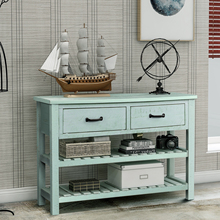 Table-Sofa-Table Entryway Living-Room-Furniture Drawers Console Retro for with And Shelf