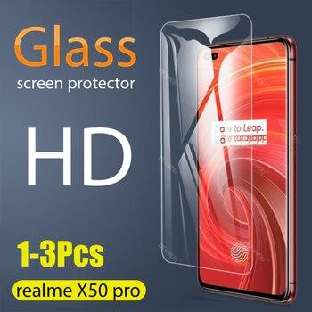 Перейти на Алиэкспресс и купить 1-3 шт полное закаленное стекло для Realme X50 Pro 5G защита для экрана 2.5D 9h закаленное стекло Realme X50 Pro 5G 6,44 защитная пленка