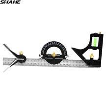 Shahe Multi-funktion Winkel Lineal 300 mm Digitale Winkel Lineal Winkelmesser Kombination Platz Winkel Lineal Edelstahl