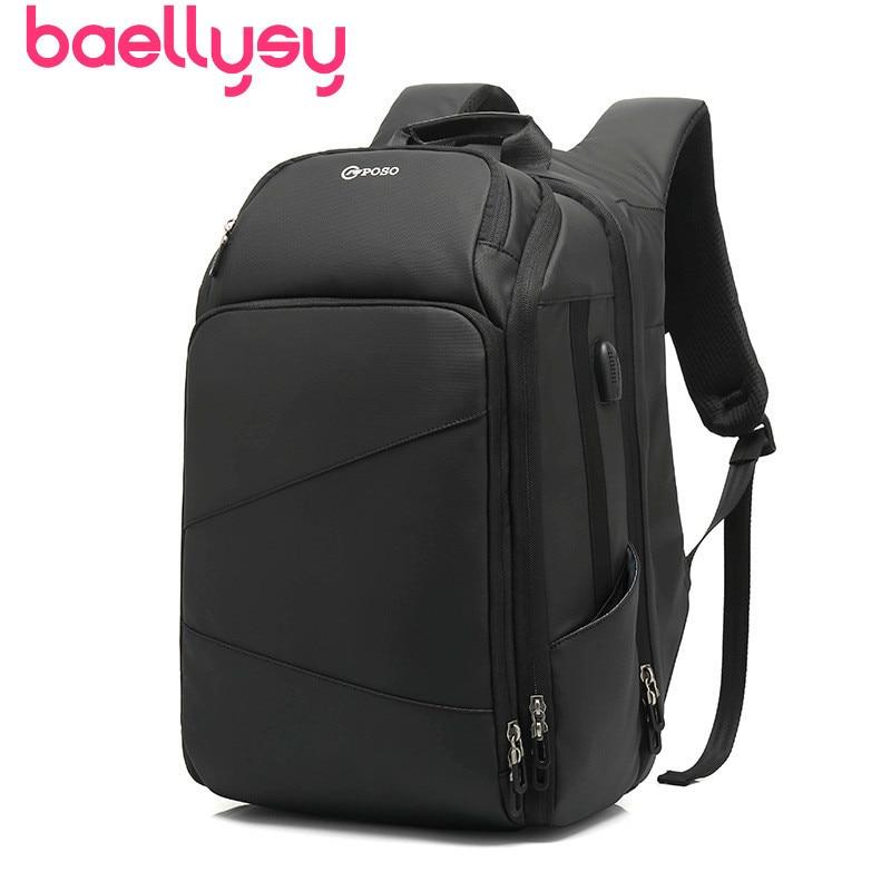 Sac à dos étanche pour hommes sac à dos Usb pour adolescents 17 pouces petit sac à dos de voyage sac à dos pour ordinateur portable hommes d'affaires sac à dos