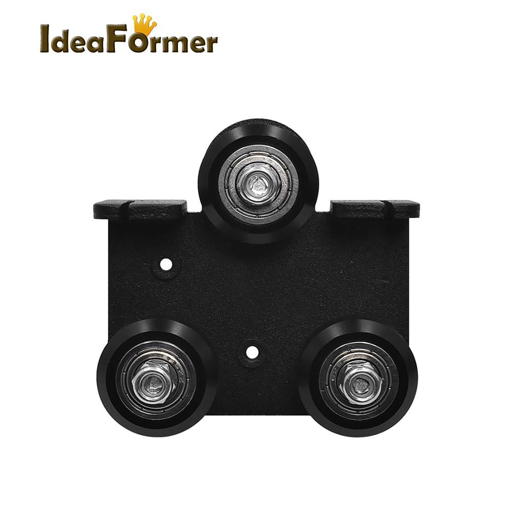 3D Printer parts Extruder Back Support Plate with Pulley Extruding Backplate for Ender 3 Ender 3 Pro CR-10 CR-10S S4 S5 Series