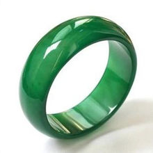 100% Natural green jade agate rings for women men jade ring green white red jade jewelry Chalcedony tail ring(China)