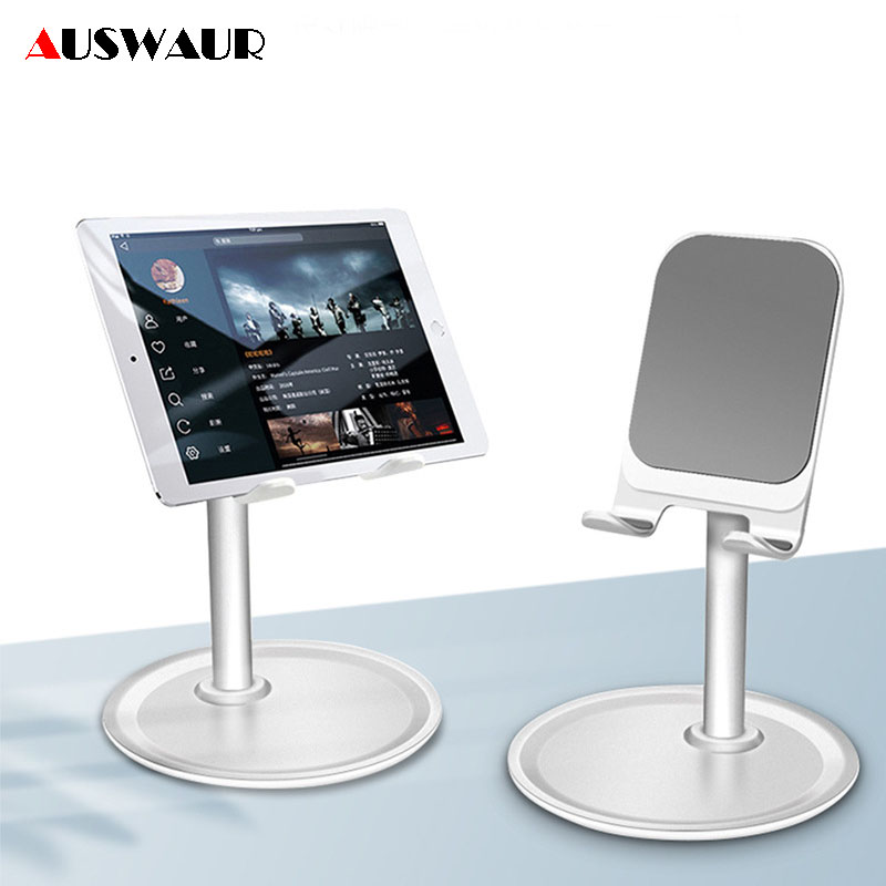 Universal Adjustable Desktop Cell Phone Holder for iPhone iPad Samsung Tablet Mobile Desk Mount Phone Holder Stand Support