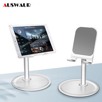 Uniwersalny regulowany uchwyt na telefon komórkowy na iPhone iPad Samsung Tablet mobilny uchwyt na biurko uchwyt na telefon stojak tanie i dobre opinie auswaur DESKTOP Metal Aluminum alloy+ABS + Silicone