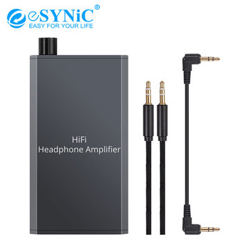 eSYNiC 16-300Ω Mini HiFi Headphone Amplifier Audio Earphone Amplifier For MP3 Smart Phones Computer 3.5mm AUX Portable Mini Amp image