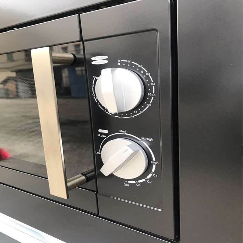 Бытовая черная Микрокристаллическая панель встроенный 245 мм стеклянный поворотный стол большой емкости с барбекю микроволновой печи