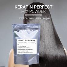 100% colágeno e 100% queratina prefeito mistura em pó vitaminas raízes do cabelo tratamento de proteína natural cabelo produto máscara de cabelo 20g