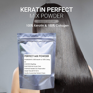 100% Collagen and 100% Keratin Prefect Mix Powder Vitamins Hair Roots Protein Treatment Natural Hair Product Hair Mask 20g