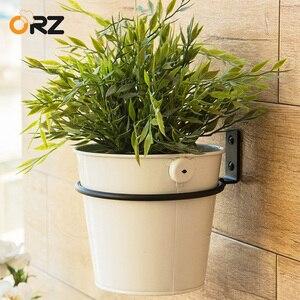 ORZ 15 см настенные складные лотки для цветочных горшков, металлический держатель для горшков, подставка для цветочных плантаторов, кронштейн...