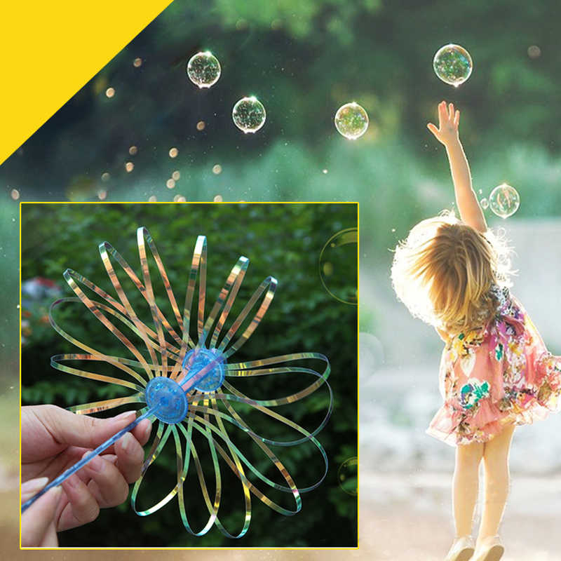 1Pcs Funny Popular Soap Bubble Colorful Shook Stick Blowing Bubble Play Outdoor Activety Wands Toys Amused for Children