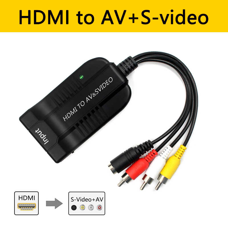 HDMI untuk AV CVBS S-Video Converter Adaptor Komposit R L Audio Antarmuka Multimedia Definisi Tinggi 1080P Video kotak