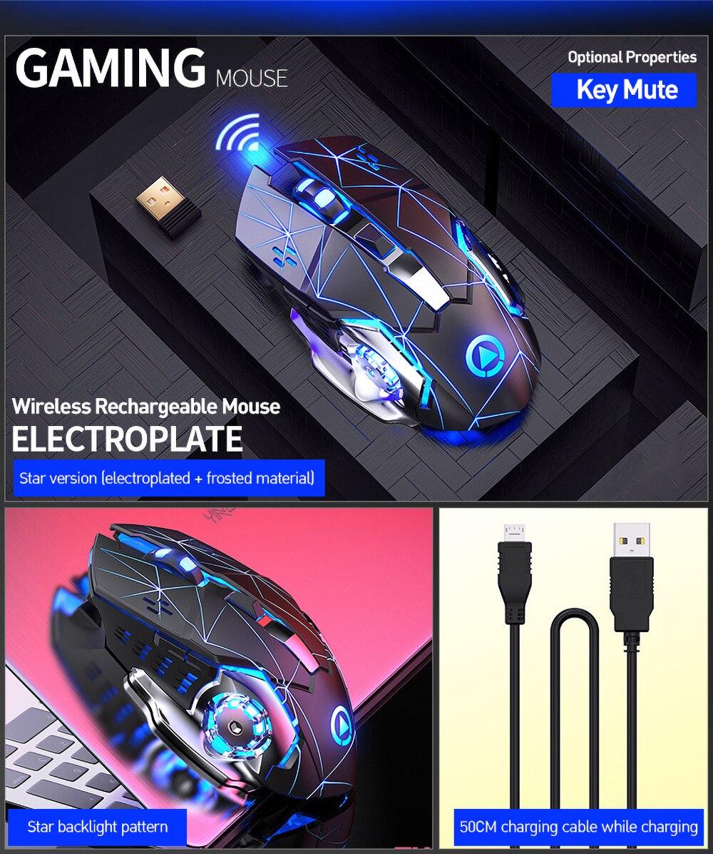 1600dpi usb óptico recarregável computador mouse silencioso