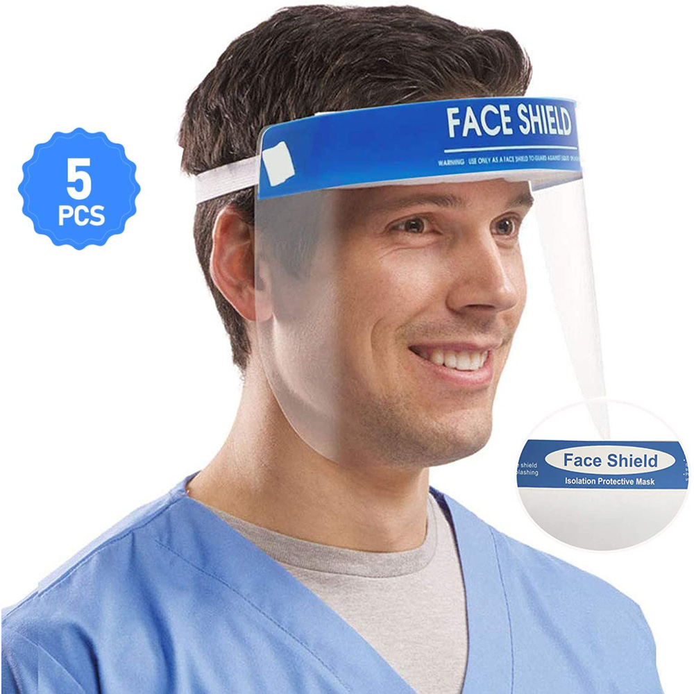 Face Shield Anti-Fog Protect Eyes And Face With Protective Clear Film Elastic Band And Comfort Sponge