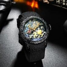 Get more info on the Biden Fashion Gold Dragon Sculpture Watch Men Quartz Watch Waterproof Big Dial Sport Watches Men Watch Top Luxury Brand Clock