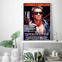 Terminator T-800 Arnold Schwarzenegger Movie Poster Silk Print Posters Of Home Decoration Wallpaper цена 2017