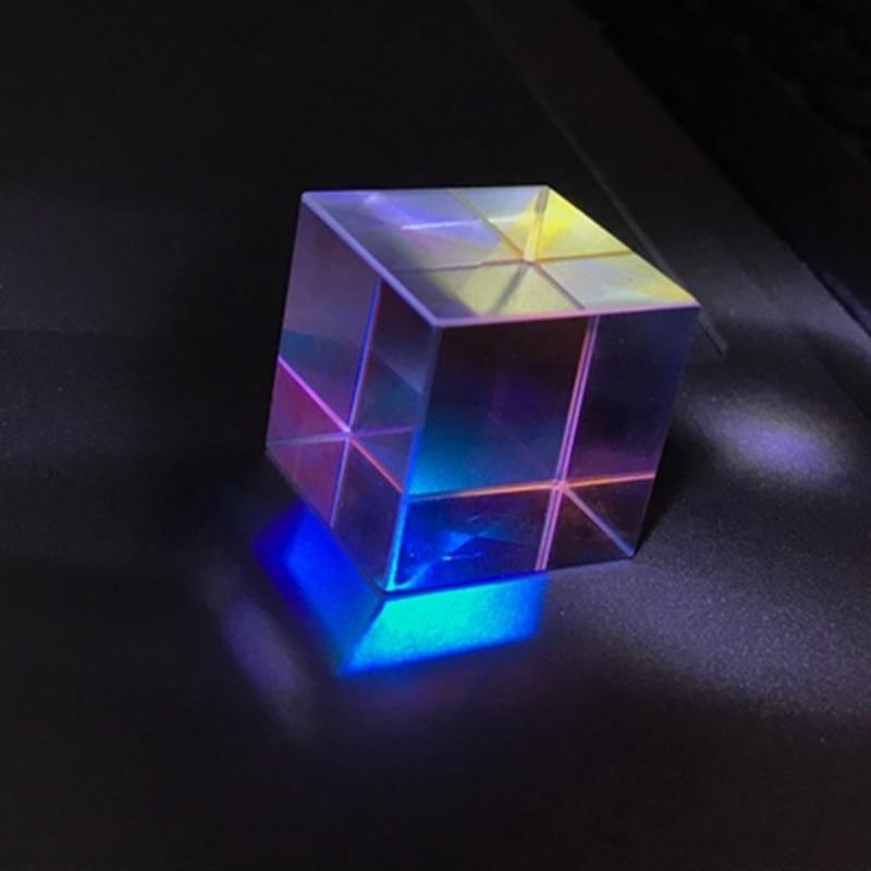 18*18*18 мм оптическая научная популяризация для куба эксперимент проектор с цветовой комбинацией призмы