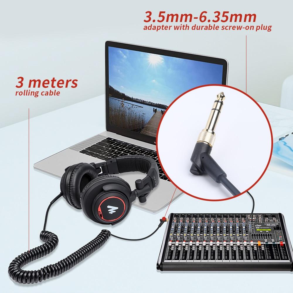 Maono AU-MH501 Professional Studio Monitor Headphone 5