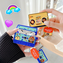Case for AirPods 1 2 Cartoon Earphone Case for Apple Airpods Pro Cute Accessories Protect Cover with Keychain Brown Sally Player finn jake bmo cartoon bluetooth earphone case for airpods 1 2 3 cute protective cover for airpods pro accessories with keychain