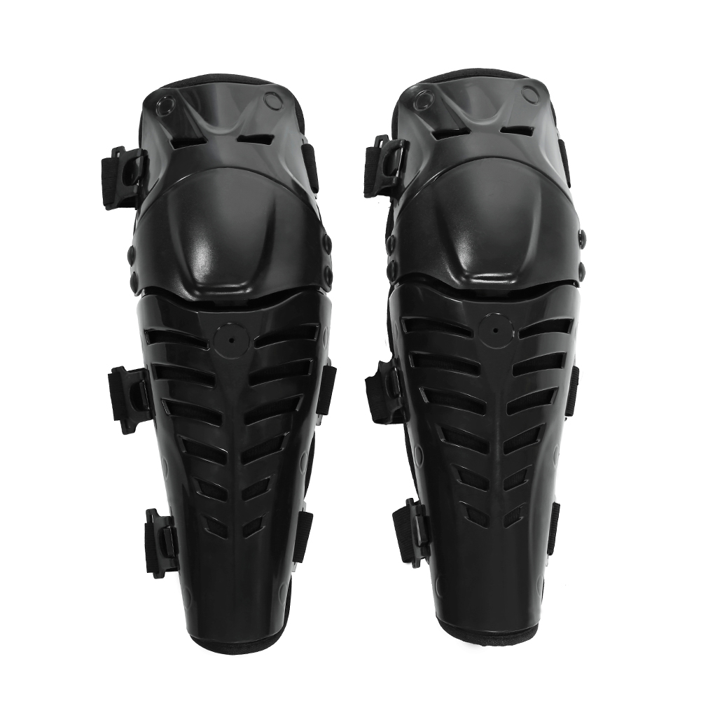 Motorcycle Motocross ABS Plastic Protective Armor Knee Pads Breathable Kneelet Brace Shin Guards Protective Armor Set