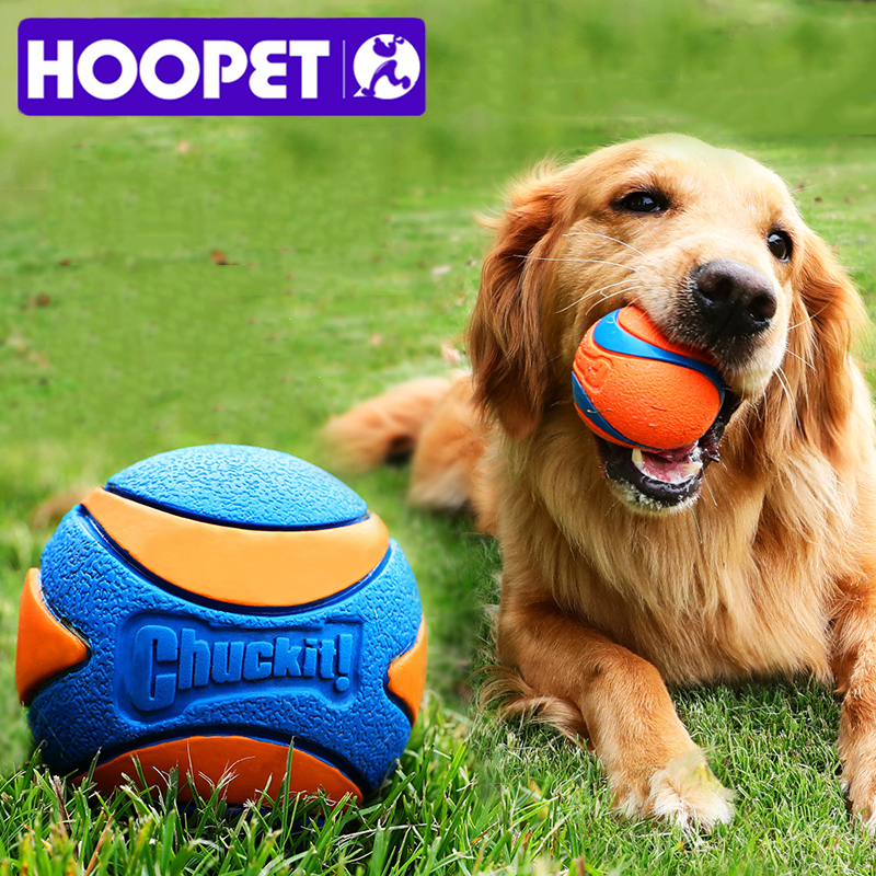 HOOPET Pet Dog Puppy Squeaky Chew Toy Sound Pure Natural Non-toxic Rubber Outdoor Play Small Big Dog Funny Ball 1