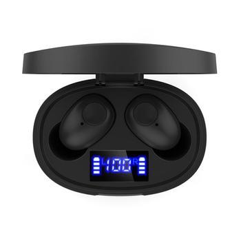 Auricular TWS, inalámbrico verdadero por Bluetooth, auriculares IPX7 estéreo 9D HiFi deportivos con reducción de ruido y videojuegos para teléfonos móviles T15