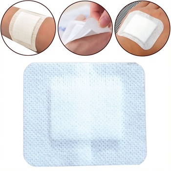 10Pcs/lot Large Size Hypoallergenic Non-woven  Adhesive Wound Band Aid Bandage First 6*7cm - discount item  40% OFF First Aid Kits