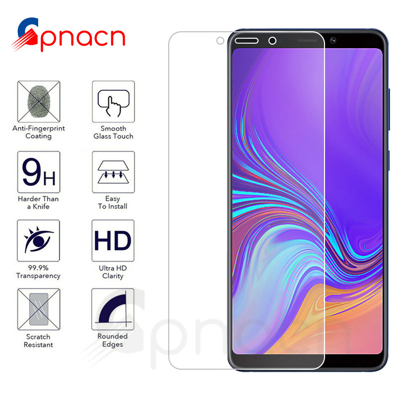 <font><b>9H</b></font> Screen Protector For <font><b>Samsung</b></font> <font><b>Galaxy</b></font> <font><b>A3</b></font> A5 A7 J3 2015 <font><b>2016</b></font> 2017 A6 A8 Plus A9 2018 HD Tempered <font><b>Glass</b></font> Protective Film Case image