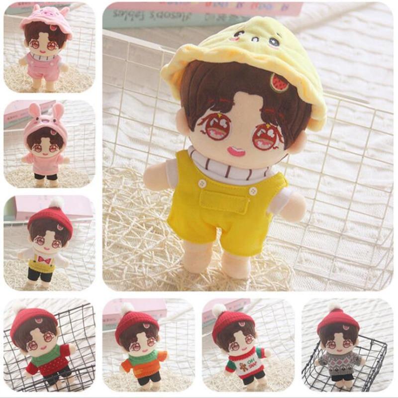 20cm Human Doll Plush Toy Idol Pop Idol Doll Boys Doll Stuffed Toy Pillow Super Star Doll Boys Soft Doll Toy Christmas Gift