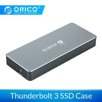 ORICO NVME M.2 SSD Enclosure Thunderbolt 3 40Gbps SSD Case 2TB Aluminum Type-C with Thunderbolt 3 C to C Cable For Mac Windows