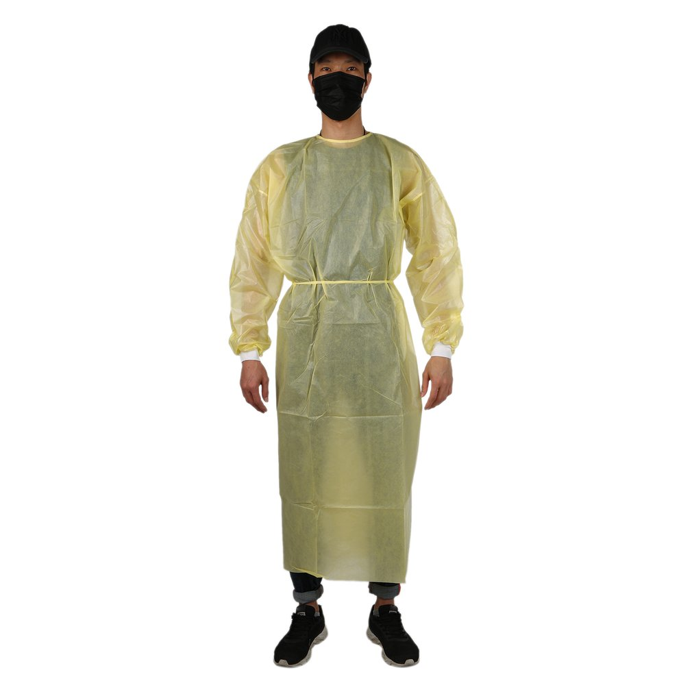 Protective Isolation Gown Clothing Overalls Isolation Suit Set Disposable Antistatic Dust  Splash Resistant