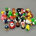 18 шт./компл. Супер Марио зеленый сокровище гриб Персик Принцесса Луиджи Ослик Конг ПВХ игрушка фигурки Модель детский подарок на день рожден...