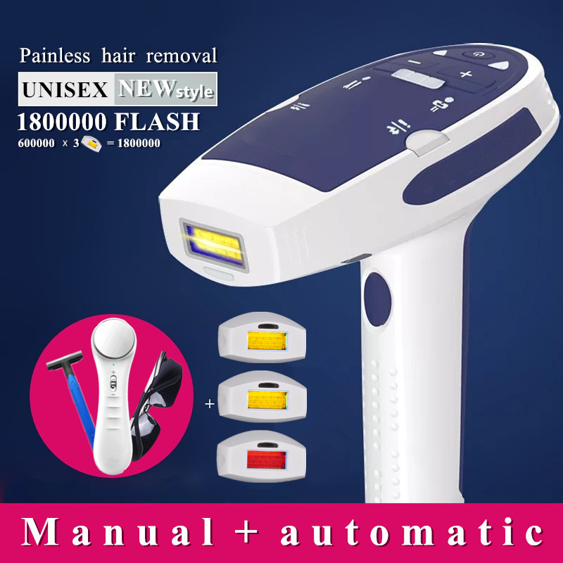 1800000 Flash IPL Laser Hair Removal Machine Laser Epilator Hair Removal Device Permanent Bikini Trimmer Depilador A Laser Women