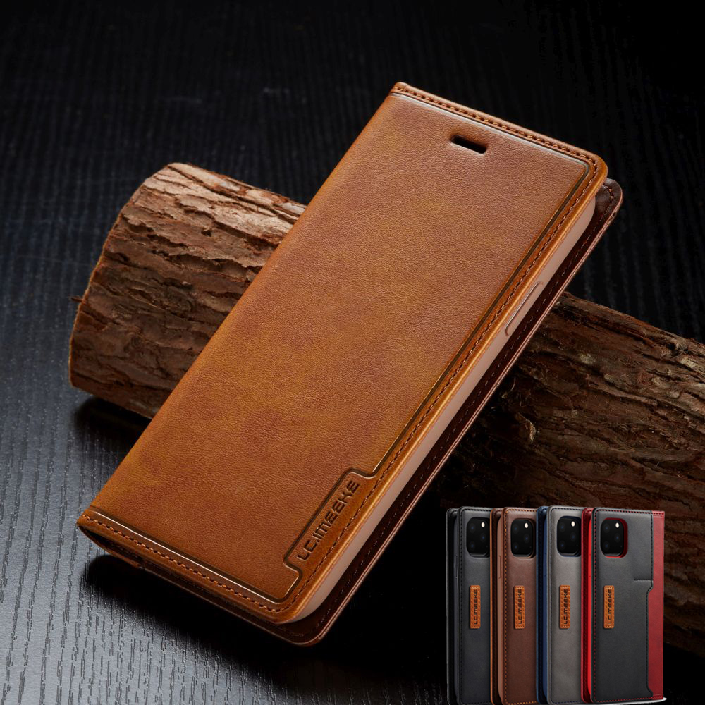 Business Phone Bag Case For iPhone SE 2020 Card Holder Wallet Soft Leather Cover For 11 Pro Max X Xr Xs 7 Plus 8 6 6S Flip Coque