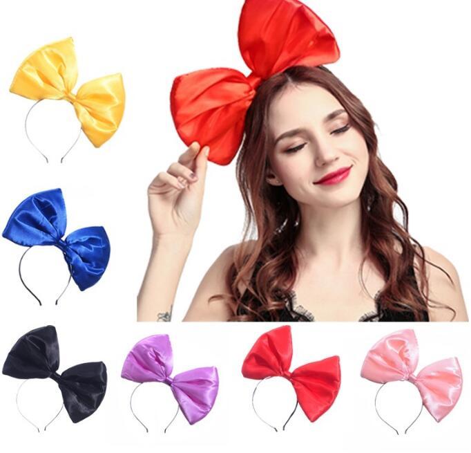 Ferramentas de Estilo do Cabelo Lote Faça Você Mesmo Simples Multi Tecidos Oversize Bowknot Hairbands Exagerados Bonito Acessório Ha1481 30 Pçs –