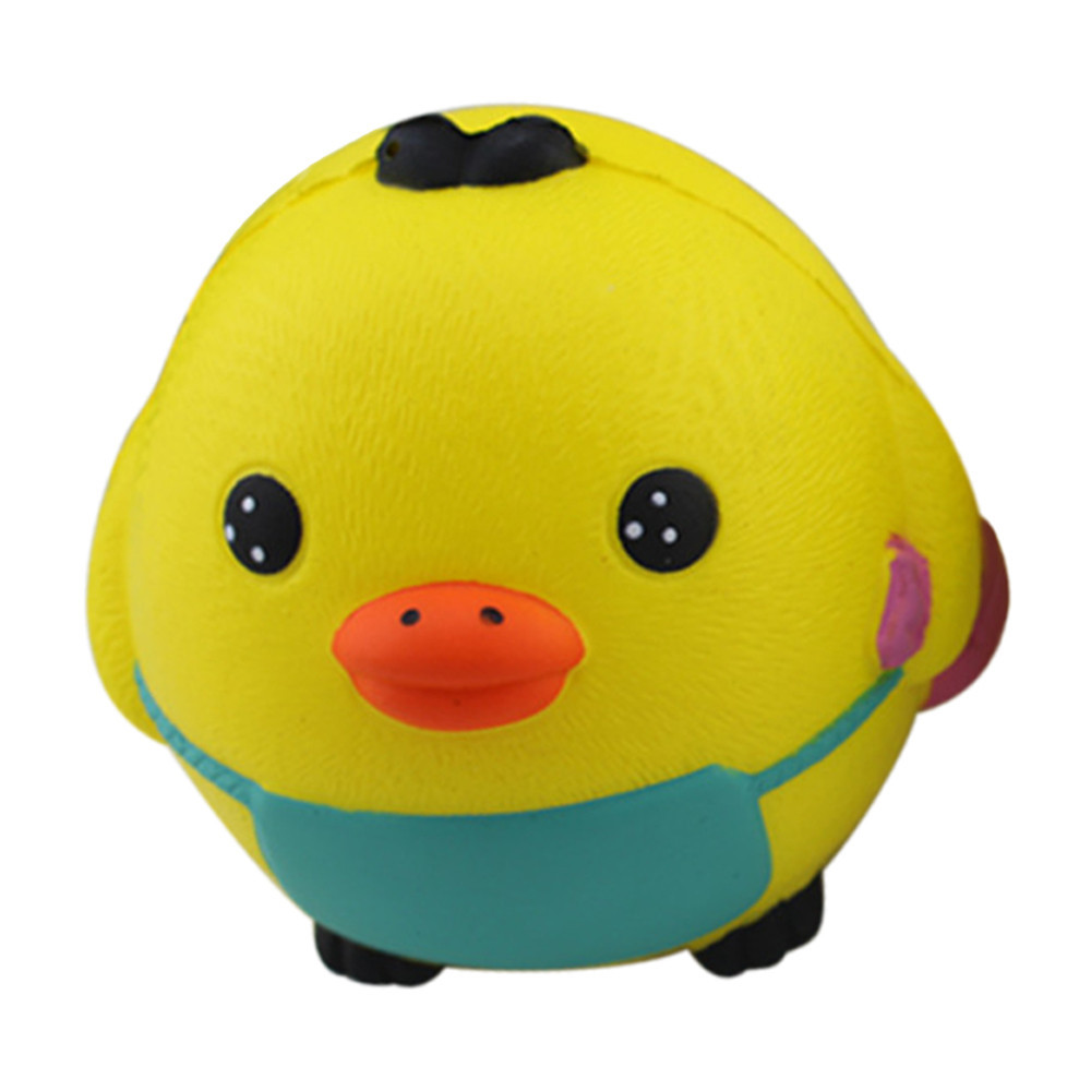 Cartoon Chick Slow Rising Squeeze Collection Cure Toy Creative Anti-anxiety Toys Antistress Gadgets Stress Relief Toy #B