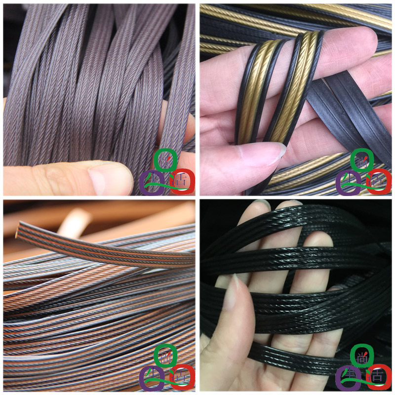 500g 60M Black Flat Synthetic Rattan Weaving Material Plastic Rattan For Knit And Repair Chair Table Storage Basket  Hammock