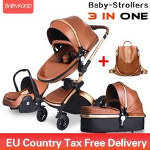 Brand newborn pram Babyfond 3 in 1 Luxury baby stroller PU l