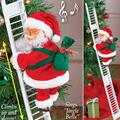 Рождественский Санта-Клаус Электрический подвесная лестница украшения для детей Новогодние новые подарки на елку смешной декор для вечери...